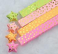 Teste padrão dourado do coração hot stamping lucky star materiais origami (40 páginas / 1 cor / cor aleatória pacote)