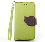 KARZEA® Leaf Mixed Colors TPU Leather Full Body With Stand for Samsung Galaxy S3mini/i8190