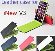 venda quente 100% couro pu couro flip-up e para baixo caso para v3 INEW (cores sortidas)