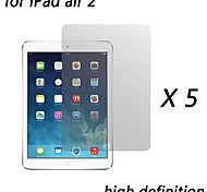 [5-pack] High-Definition-Clear Displayschutzfolien für iPad Luft 2