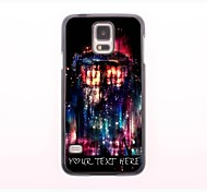 Personalized Phone Case - Red Fire Design Metal Case for Samsung Galaxy S5 I9600