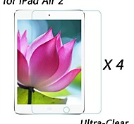 [4-Pack] Professional High Transparency LCD Crystal Ultra-Clear Screen Protector for iPad Air 2