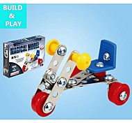 Magical Model DIY Intellectual Development Stainless Alloy Assembled Pedicab Toy(44 PCS)