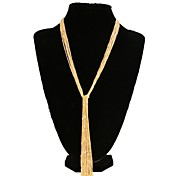 Fashion Women's Alloy Tassel Sweater Chain Necklaces
