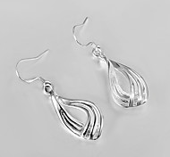 Hot Sale!!Free Shipping 925 Silver Earring,Fashion Sterling Silver Jewelry Corrugated Three-wire Earrings