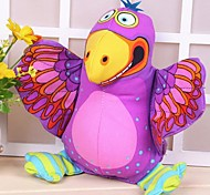Purple Bird Shaped Canvas Chew Toys for Pet Dogs