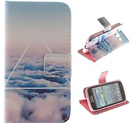 Only Beautiful Cloud Design PU Leather Full Body Protective Case with Stand for Samsung Galaxy Core I8262