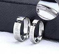 персонализированный подарок кольца пара из нержавеющей стали гравировкой ювелирных изделий