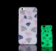 Diamond Pattern Glow in the Dark Hard Case for iPhone 6