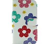 Flower Color Pattern PU Leather Flip-open Full Body Case with Stand   forMotorola Moto G