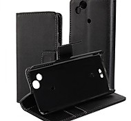 PU Leather Full Body Case with Stand and Card Slot for Sony Ericsson X12