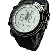 semplice orologio led doppio movimento multifunzione silicone braccialetto da polso da uomo (colori assortiti)
