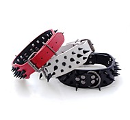 Strong Leather Domineering Black Spikes Collars for Big Dogs and Pets(assorted colours,size)