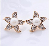 Fashion Zircon Starfish  Pearl Earring(Assorted Color)