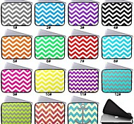 Funda impermeable bolsa de ordenador portátil notebook neopreno pulgadas lacdo®13 chevron para el favorable aire del macbook y otros
