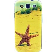 patrón de estrellas de mar playa de TPU suave para i9300 s3