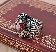 Ringe,Stahl Imitation Rubin Geburtssteine Schmuck Statementringe