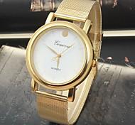 Women's Fashion Style Geneva Steel Band Quartz Analog Wrist Watch (Assorted Colors)