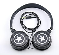 SPC06 Stars Logo Stereo Headphone 3.5mm Jack over Ear for MP3/Phones/PC