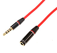 1.2m 3.936FT Audio 3.5mm Male to Audio 3.5mm Female Cable for Mobile Phone and Car AUX