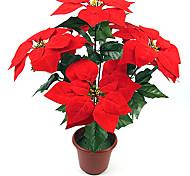 ornamenti di natale rosso fiore di Natale, di plastica
