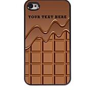 персонализированные телефон случае - шоколад дизайн корпуса металл для iPhone 4 / 4s
