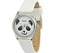 Personalized Mother's Day Gift JUST2YOU Citizen Movement Women's Cartoon Panda Watch in Steel Case