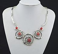 Red Statement Necklaces Gem Party / Daily / Casual Jewelry