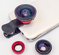 Universal Clip 0.4X Super Wide and Fisheye Add-on Macro Lens for Samsung and Other Cellphones(Assorted Colors)