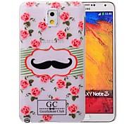 Para Samsung Galaxy Note Transparente / Diseños Funda Cubierta Trasera Funda Flor Policarbonato Samsung Note 3