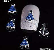 10pcs Beauty Xmas Tree 3D Alloy Nail Rhinestone DIY Nail Art Decoration