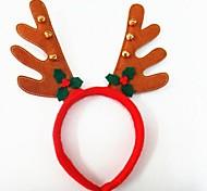 festa de natal bonito chapéu de chifres de veado com a cabeça banda sinos cabelo