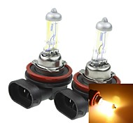 H11  PGJ192 55W Plated Yellow for Car Headlights Headlights Fog Lights 12V(2PCS)