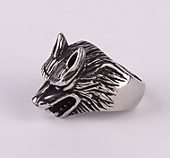 Z&X®  Punk Gothick Style Wolf Titanium Steel Men's Statement Ring Christmas Gifts