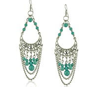 Beautiful Moon Vintage Turquoise Earrings