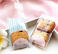 50pcs Lace Self Adhesive Cookie Bakery Candy Biscuit Jewelry Gift Plastic Bag