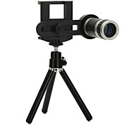 Universal  8x Optical Zoom Lens Camera Telescope with Tripod for Mobile Phone 55mm-85mm