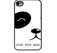 Personalized Phone Case - Panda Face Design Metal Case for iPhone 4/4S