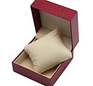 Fashion Lichee Pattern PU Style Watch Box (Red)