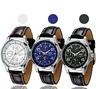 NARY Men's Leather Starps   Quartz  Waterproof Sports  Watch  (Assorted Colors)