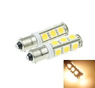 BA9S (T4W W6W) 7W 13x5054SMD 480-560LM 3000-3500K Warm White Light for Car Light Parking Lamp(DC12-16V)