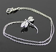 925 Silver Dragonfly Style Pendant Chain Necklace - Silver(1 Pcs)