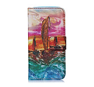 Sailing Ships Pattern PU Leather Full Body Case with Stand for iPhone 5/5S