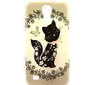 Black Butterfly Pattern Back Cover TPU Soft Case for Samsung Galaxy S4 Mini I9190