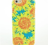 Blue And Yellow Sunflowers Pattern Hard Case for iPhone 6