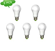 5 pcs DUXLITE E26/E27 11 W 1 COB 1050 LM Warm White A Dimmable Globe Bulbs AC 220-240 V