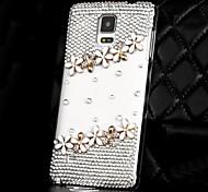 Luxus Diamanten Kristall Blumen Rückseite Fall für Samsung Galaxy Note 4