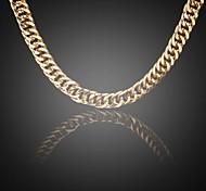 24k oro verdadero de los hombres plateado Fígaro grande escasamente cadenas de eslabones 10mm collar de 75cm