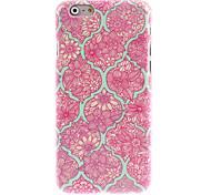 Elegant Flower Pattern Hard Case for iPhone 6 Plus