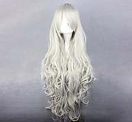 negro mayordomo de la reina victoria cosplay peluca blanca